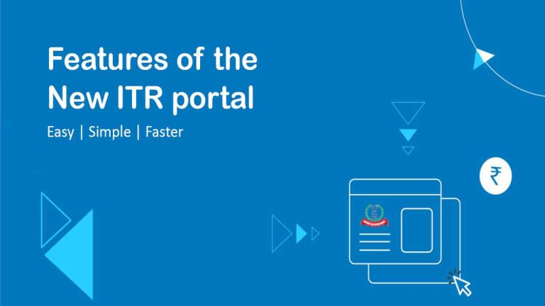 Features of the New ITR portal 2.0